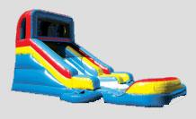 15′ Slide and Splash – wet slide with pool or dry slide