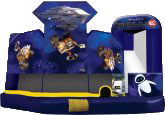 Large Wall-E 5in1 Bounce House/Slide Combo wet or dry